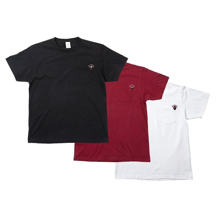 ワセダベア20周年記念ロゴグッズ【ポケットTシャツ】